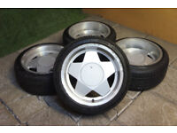 "Genuine Remotec / Borbet A 16"" Alloy wheels 16x7.5 & 16x9 5x100 VW Golf MK4 Bora Audi A3 TT Alloys"