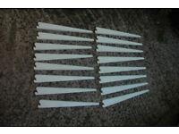 Spur Steel-lok Heavy Duty White Shelving Brackets For Sale