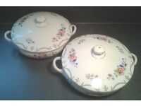 Pair of Wilkinson Royal Staffordshire Pottery Tureens Serving Dish