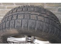 """4 x 18"""" Audi Q5 Alloy wheels and winter tyres"""