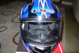 LS2 FF396 FT2 Unicorn Helmet in Black/Blue S