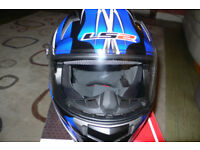 LS2 FF396 FT2 Unicorn Helmet in Black/Blue S