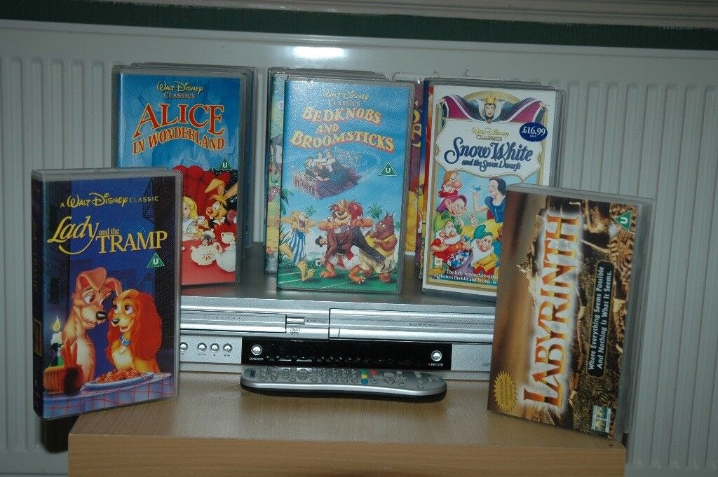 video/vhs player + tapes