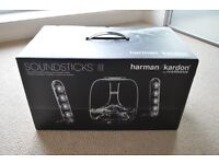 Harmon Kardon Soundsticks III - Clear 2.1 Speakers and Subwoofer - New/boxed