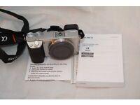 Sony A6000 camera in Silver