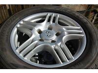 Porsche cayenne 18x8j ET57 5x130 BBS alloy wheels 255/55/18 Pirelli tyres