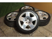 "Genuine Audi TT Competition 17"" Alloy wheels 5x100 Polo Fabia Golf MK4 Bora Beetle A3 Alloys TT Comp"