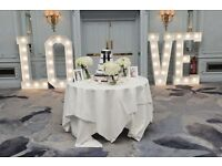 Giant 5ft Tall Illuminating Love Letters Ideal for Weddings