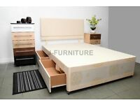 Brand New Divan Bed Base.Cheapest Online! All Sizes.4 Colors.Storage,Headbaord,Mattress