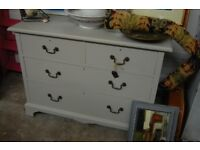 Grey Chest of Drawers with Mirror
