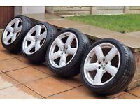 """18"""" 4x VW Golf MK4 Alloys Wheels Tyres* 245/40/18 *5x100 *Sline Sport Audi A3 S3"""