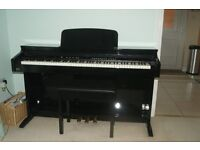 Intermusic 88-key electronic piano with stool - further and final reduction for quick sale