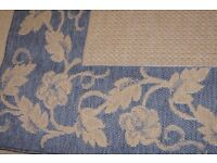 Sisalo Oriental Weavers Rug in Blue and Beige 160 x 230 cms Flat Woven