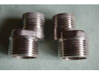 Cranked/Offset Adaptors x 2, for Exposed Thermostatic Shower Bars, in As New Condition.