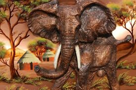 WALL DECOR BIG AFRICAN ELEPHANT