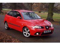 """Seat Ibiza Dab 1.9TDI 2007 105bhp* Full Service* 1-Owner* 16"""" Alloys* Red* 7Mot&Tax"""