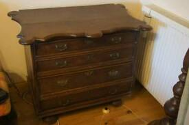 Antique solid wood cabinet