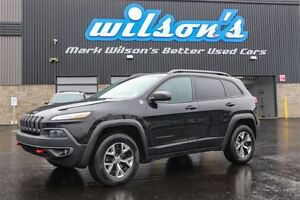 2014 Jeep Cherokee TRAILHAWK AWD! LEATHER! NAVIGATION! PANORAMIC