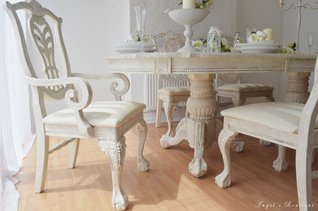 Shabby Chic Breakfast Table: UNIQUE & BEAUTIFUL *** Shabby Chic Provence Dining Table