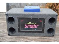 Earthquake Car subwoofer and Jensen 500w Amp