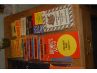 21 assorted study aids including Brodies notes, Macmillan master guides, York notes.