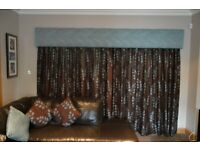 Professionally made curtains and pelmet