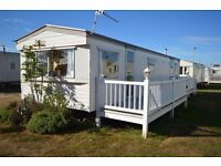 3 Bedroom Static Caravan For Sale with Large Decking in Dymchurch includes Free 2017 & 2018 Fees