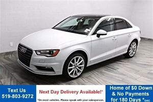 2015 Audi A3 2.0T TECHNIK! QUATTRO! NAVIGATION! SUNROOF! LEATHE