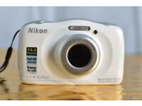 Nikon Coolpix S33 waterproof camera - excellent condition