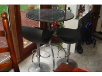 BAR TABLE AND HYDRAULIC STOOLS FROM JOHN LEWIS