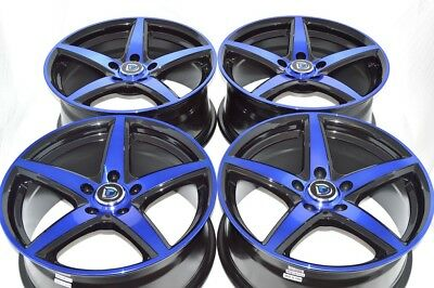 17 blue Wheels TLX xB TL Integra RSX TSX 300M Avenger Talon Eclipse Rims 5x114.3 17 Acura Tl Wheels