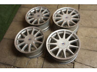 "4x Genuine Hartge 17"" Alloy wheels BMW 5x120 3 Series E36 Rare Ronal Z3 Z4 E46"