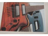 Mounted Photograph Of Two Guitars
