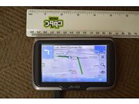"""SAT NAV, 4.3"""" SCREEN WITH ORIGINAL INSTRUCTIONS, BOX, BRACKET AND CHARGER, NEW CONDITION £35."""