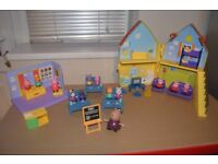 Peppa Pig Playsets. House, Classroom, Dance school and Figures