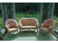 Conservatory Furniture - one settee and two armchairs
