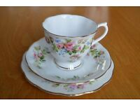 "Royal Albert ""Moss Rose"" Fine Bone China Tea Services (2 Sets - 46 Pieces) - Bargain Price"