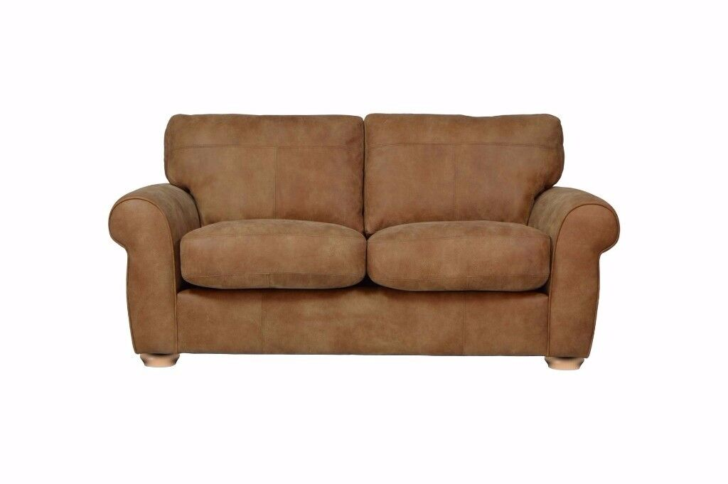 Mariana Small 2 Seater sofa - Brown Leather - Bargain - Save over £450! - Designer Sofa