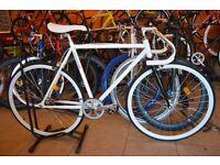 Brand new single speed fixed gear fixie bike/ road bike/ bicycles + 1year warranty & free service 1v