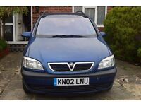 Vauxhall Zafira 1.8i Petrol 2002 for spares or repairs - non-runner