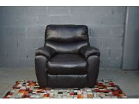 SELECTION OF REAL LEATHER ARMCHAIRS