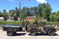 MILITARY JEEP, M38A1. 1953. FULLY REST. W/ M 100 TRAILER