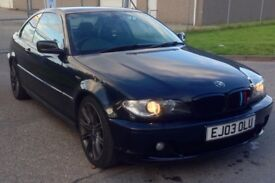 BMW 330ci Coupe 2003 228 BHP black / READY TO DRIVE!