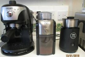 Coffee Machine Set Up (De Lunghi - Lavazza - Krups) milk jug, thermometer & knock box + extras £75