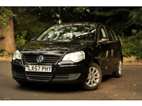 Volkswagen Polo, 2007, Black, 1.4 Petrol, 95,000 miles, some engine work needed, sold as is