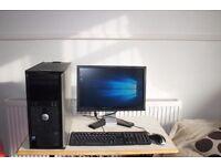 """Dell Optiplex 760 Full Desktop PC, Intel Quad Core CPU, 500GB HDD, 8GB Ram, 19"""" Monitor, Windows 10"""