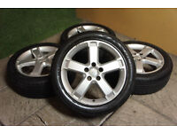 "Genuine FORD 17"" Alloy wheels & Tyres 5x108 Mondeo Focus MK2 Transit Connect Alloys"