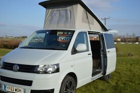 2014 VW T5 CAMPER VAN,MOTOR HOME 2.0 TDI POP TOP, AIR CON, ELEC PACK, TAILGATE, STONE GREY.