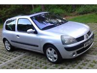 Ideal 1st Car,2005 Renault Clio 1.2 Dyn 3Dr, New MOT (No Advisories) Low Mileage, Cheap To Ins