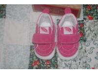 NEW BABY GIRLS VANS. UP TO FIVE WEEKS OLD. NEW IN BOX. COLLECTION FROM LINGDALE ONLY